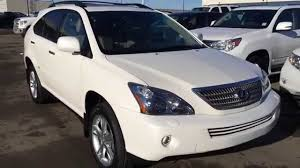 2008 lexus hybrid suv for sale pre owned white 2008 lexus rx 400h awd hybrid ultra premium