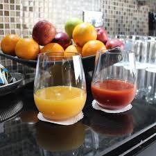 notmog 4 plastic wine glasses set unbreakable stemless reusable
