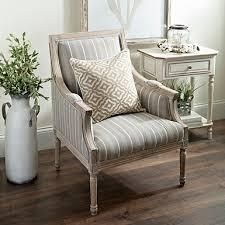 Accent Chairs Mckenna Taupe Stripe Accent Chair Kirklands