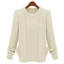 knitted sweater autumn winter twist knitted sweater neck