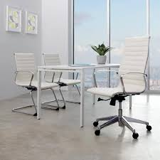 Office Furniture Guest Chairs by Ofd Mid Back Eco Leather Guest Chair 74653 Guest Chairs And