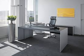 Leather Office Desk Furniture Furniture Trendy Gray Minimalist Desk With Leather Home