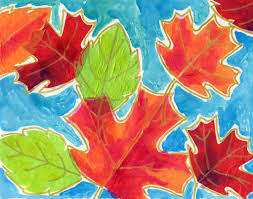 fall tissue paper leaf collage art projects for kids