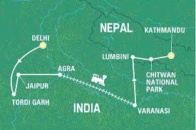 Nepal On Map The Road To Kathmandu India Tours Geckos Adventures Au