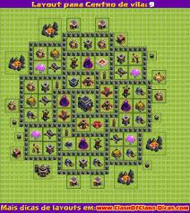 layout vila nivel 9 clash of clans melhor layout cv 9 clash of clans clash of clans dicas