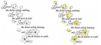 jasmine flowers w quote by tattoosavage on deviantart
