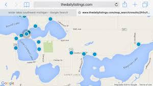 map of michigan lakes lakes waterfront property
