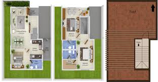 1879 sq ft 3 bhk floor plan image pricol citrus grove available