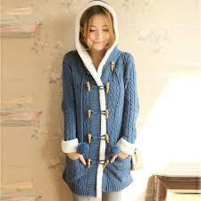 warm womens sweaters warm winter coat sleeve breast