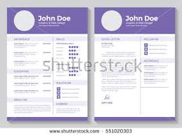 resume template graphic web design stock vector 551020303