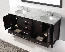 Abodo  Inch Transitional Bathroom Vanity White Finish Set - Bathroom vanity double sink tops