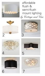 Flush Mounted Lighting Fixtures by Cottage And Vine Budget Friendly Flush Mount Lighting Lighting