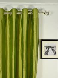 oasis solid green dupioni silk custom made curtains custom