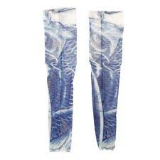 h1 fish scale print fake temporary tattoo cycling arm sleeves pair