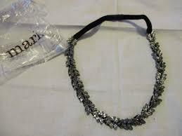 headband elastic avon pretty up there headband black glass stones in