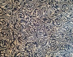 Batik Upholstery Fabric Blue Paisley Fabric Etsy