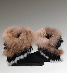 ugg sale black boots ugg shoes cheap sale ugg fox fur boots 8288 black classical