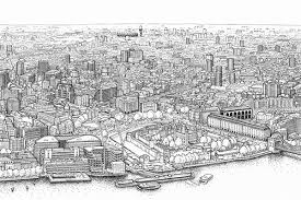 london panorama drawing the view from the shard on behance