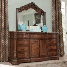 bedroom white dresser with mirror wooden bed green dresser