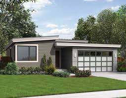 one story contemporary house plans one story contemporary for a small lot 69547am architectural