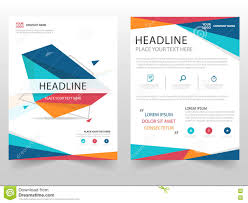 business report template colorful geometric leaflet brochure flyer annual report template royalty free vector