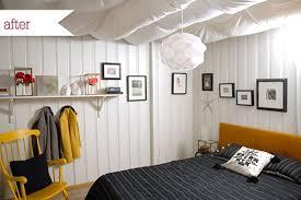 a dark basement bedroom gets a bright makeover basement bedrooms
