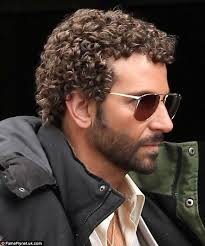 boys forced to get a perm bradley cooper shows off his perm onset with jennifer lawrence