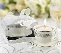 tea cup favors miniature teacup saucer tealight candle holders
