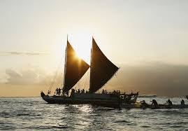 for four years this polynesian canoe will sail around the world
