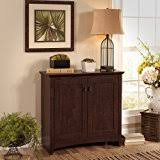 amazon com cabot small storage cabinet with doors in espresso oak