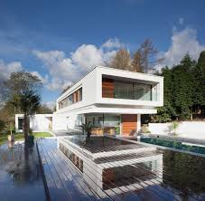 terrace pool eco friendly modern home in tandridge england