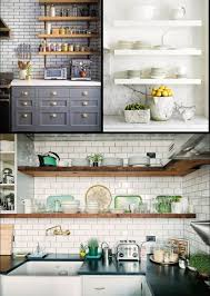 kitchen country style free standing open kitchen shelving