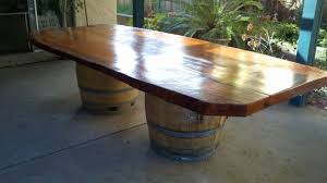 Wine Barrel Furniture Ideas You Can DIY Or BUY  PHOTOS - Barrel kitchen table