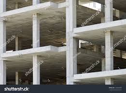 unfinished building made precast concrete slabs stock photo
