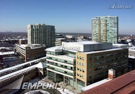 looking northwest from sherman plaza parking garage evanston