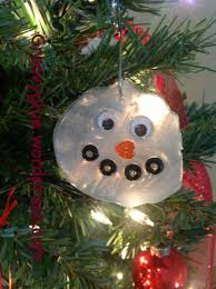 glue snowman ornament