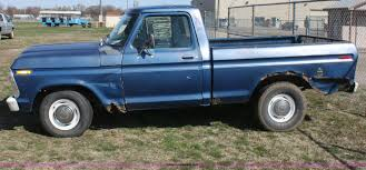 Ford F100 1975 1975 Ford F100 Short Bed Pickup Truck Item L9553 Sold A