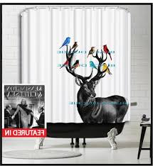 Deer Shower Curtains Cardinal Shower Curtain Pmcshop