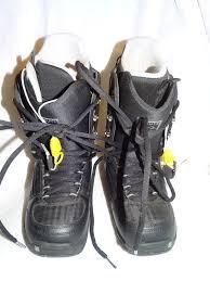 mens burton black tribute snowboarding snowmobile boots size 6