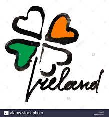 Images Of The Irish Flag Ireland Four Leaf Irish Clover With Colors Of The Ireland Flag