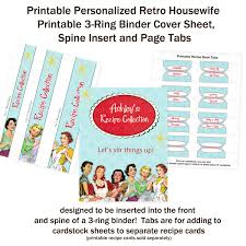 Binder Cover Sheets by Printable Retro Housewife 1950 U0027s Bridal Shower