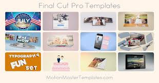 apple u0027s final cut pro motion templates u0026 effects