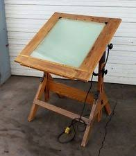 Light Drafting Table Vintage Drafting Table Antique By A Lietz Made Of Maple Cast Iron