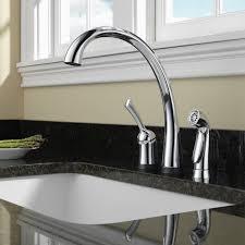 touch technology kitchen faucet delta pilar touch single handle kitchen faucet with and touch2o