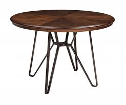 Two Tone Dining Room by Centiar Two Tone Brown Round Dining Room Table D372 15