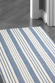 White Cotton Rug Blue White Stripe Rug Roselawnlutheran