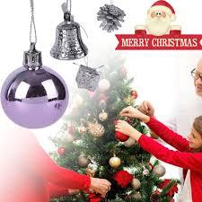 20pcs tree hanging purple snowball drop gift