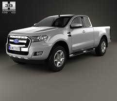 ford ranger 2016 ford ranger super cab xlt 2015 3d model hum3d