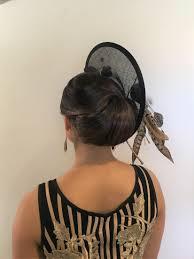 hair up hat fashion designers model