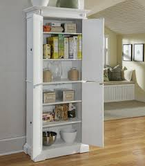 Kitchen Pantry Cabinets Kitchen Unfinished Oak Wood Free Standing Kitchen Pantry With 2